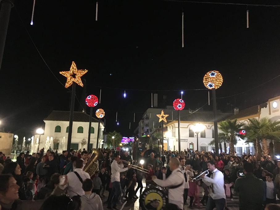 Alumbrado de Navidad en la Plaza Mayor de Andalucía