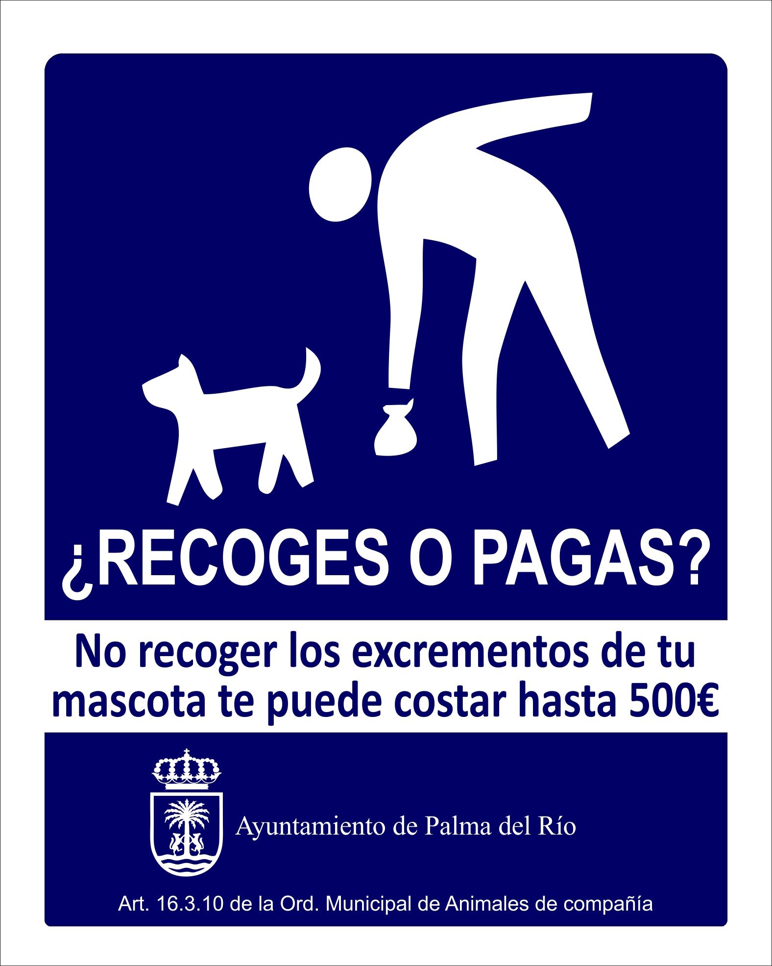 Campaña de concienciación para la recogida de excrementos caninos