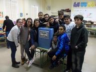 Escolares en la campaña de concienciación sobre el reciclaje