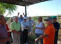 La primera teniente de alcalde se reúne con los usuarios de huertos sociales